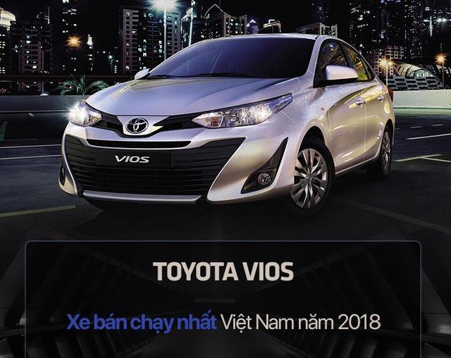 10 xe bán chạy nhất Việt Nam năm 2018: Toyota Vios vô địch, vị trí thứ 10 gây chú ý - Ảnh 1.