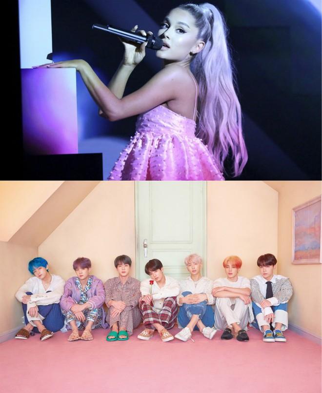 """Ariana Grande tiếp tục """"chơi cầu trượt"""", BTS kế nhiệm loạt thành công """"khủng"""" của làng nhạc US-UK trên BXH Billboard 200 - Ảnh 4."""