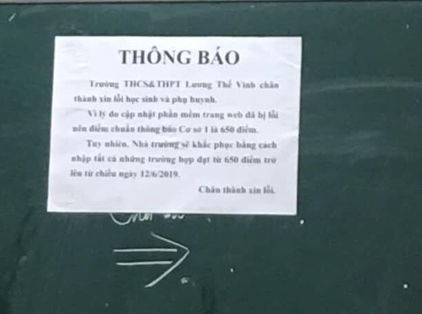 Trường Lương Thế Vinh xin lỗi sau khi 'quay học sinh như đèn cù' - ảnh 1