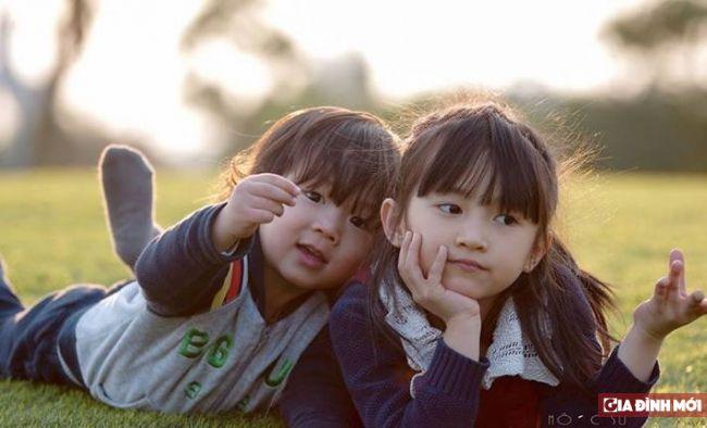 Hai nhóc nhà chị Huyên