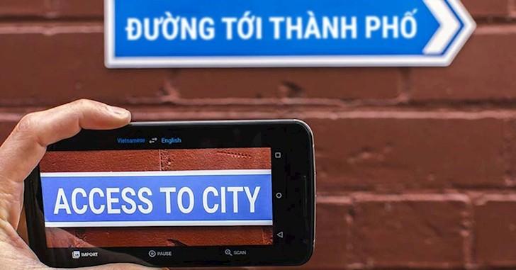 Thủ thuật - Tiện ích - Dịch Google trực tiếp bằng máy ảnh, không cần internet