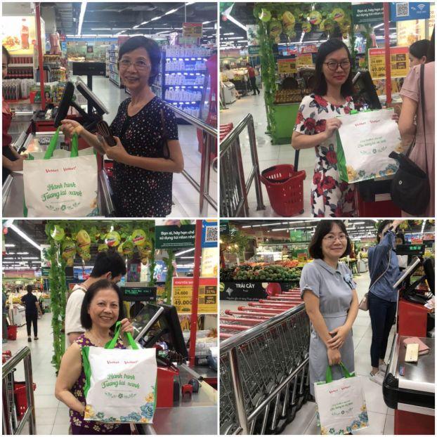 Vị 'khách hàng xanh' đặc biệt ở siêu thị VinMart 4