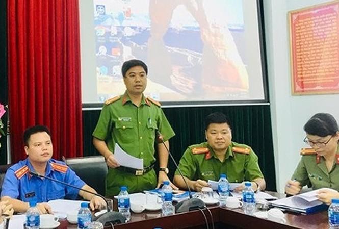 Công an quận Bắc Từ Liêm, Hà Nội cung cấp thông tin cho báo chí