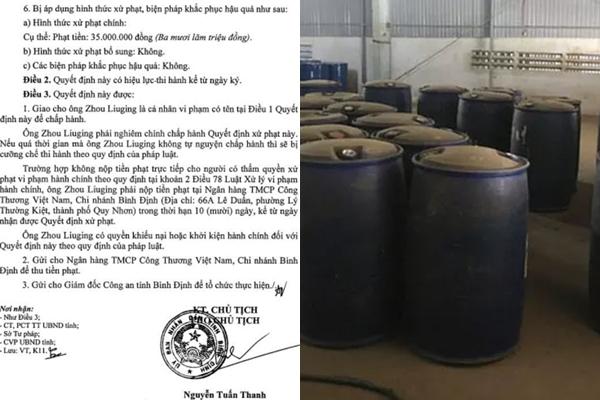 An ninh - Hình sự - Phát hiện thêm kho nguyên liệu sản xuất ma túy ở Bình Định: Phạt hành chính 4 người Trung Quốc